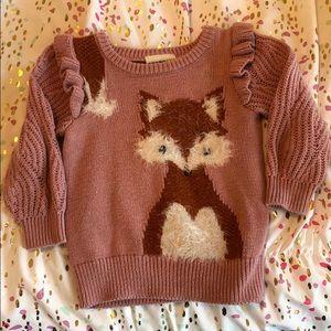 Toddler fox sweater